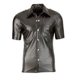 Imitat. Leather Men´s Shirt S