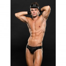 ENVY EC04 BIKER THONG, CUFFS AND HAT SET M/L