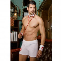 QUEEN NURSE COSTUME Men ONE SIZE  5PCS