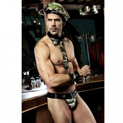 QUEEN MILITARY COSTUME MEN ONE SIZE 5PCS