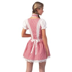 Dirndl white/red S